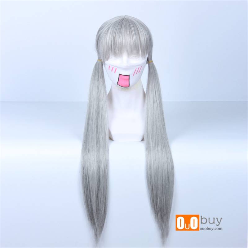 Selling Zootopia Judy Mixed Silver-Grey Personification Of Twin Tail Cosplay Wig
