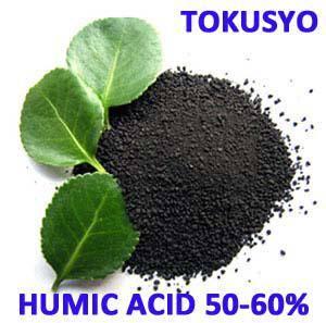 Humic acid 50-60% organic matter 60% min