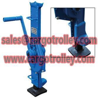 Mechanical machinery jack features and applications