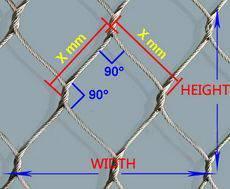 stainless steel roep mesh,zoo mesh, rope mesh