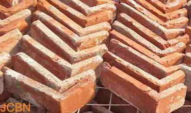 We supply Old Red Brick Slices, Corner Brick.