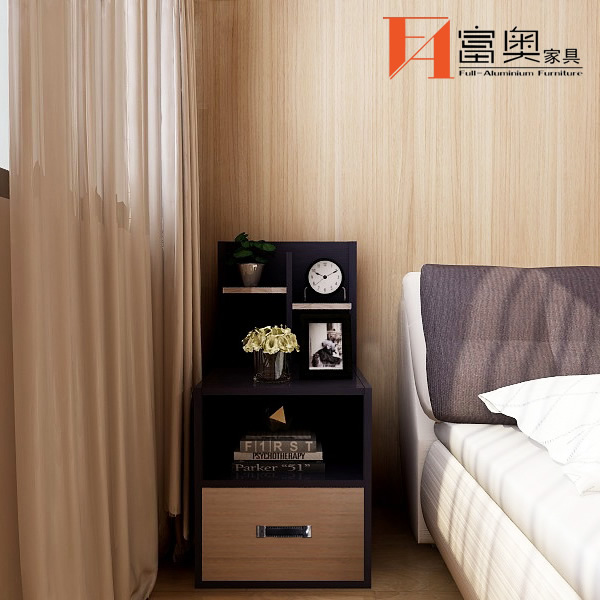 Whole Aluminum Bedroom table Bedside Table Nightstands