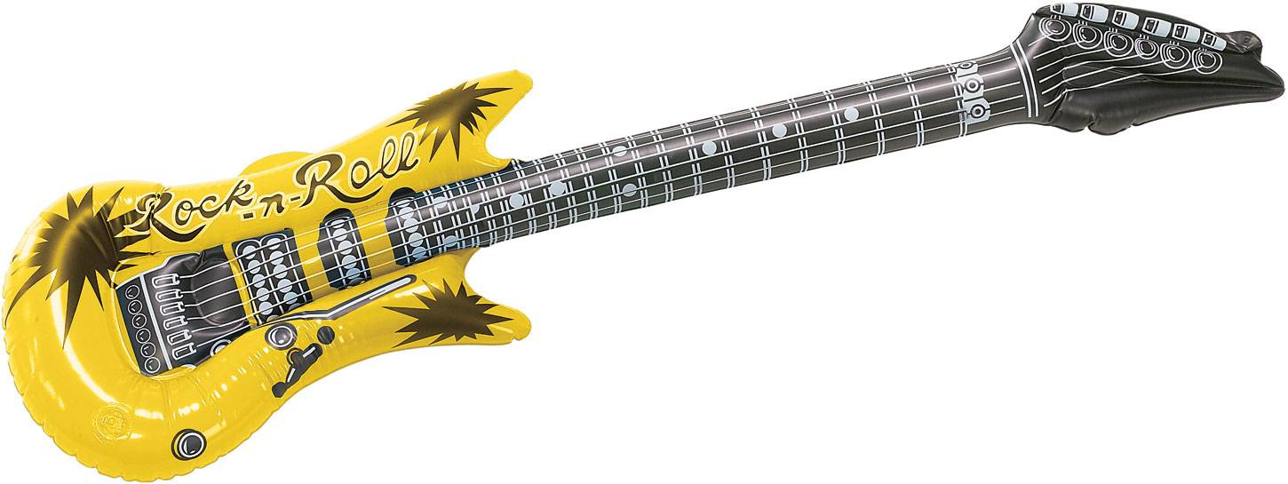 Inflatable guitar toy