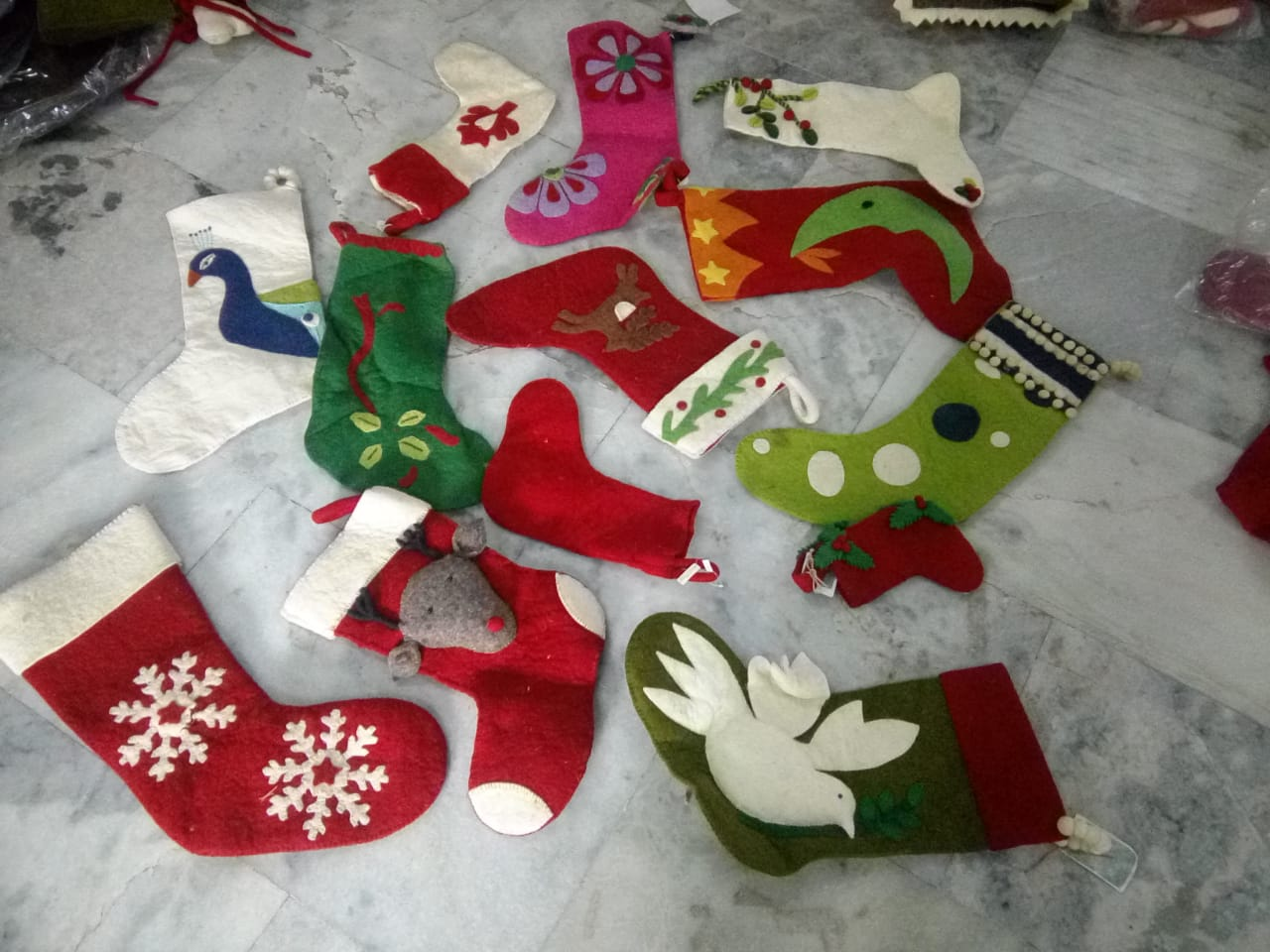 Christmas decorations, supplies