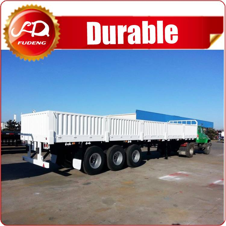 China Semi Sidewall Flatbed Trailer with WABCO brake system