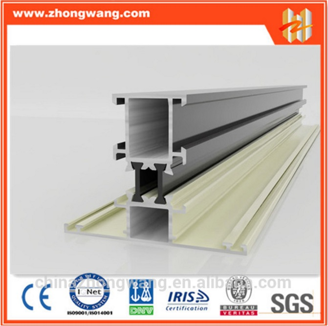 construction aluminum extrusion profile to make doors and windows