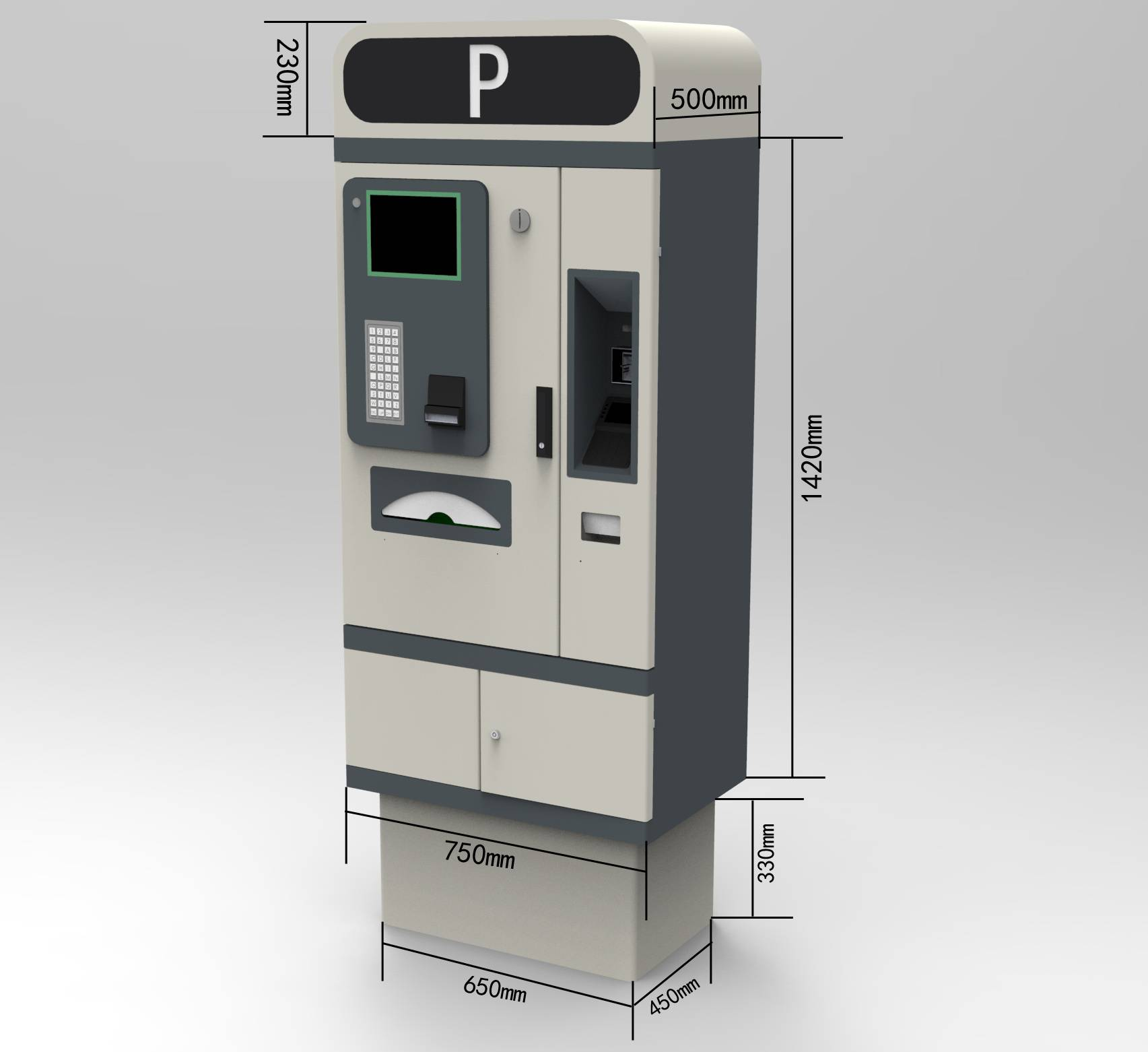 pay on foot parking payment kiosk parking management