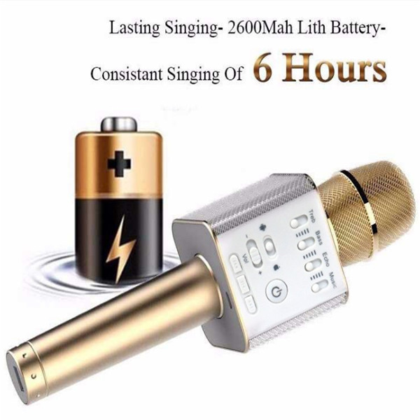 Portable Wireless Microphone Karaoke Player