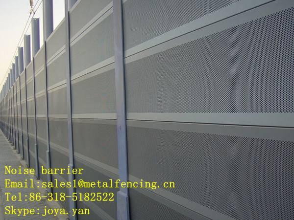Metal sound barrier