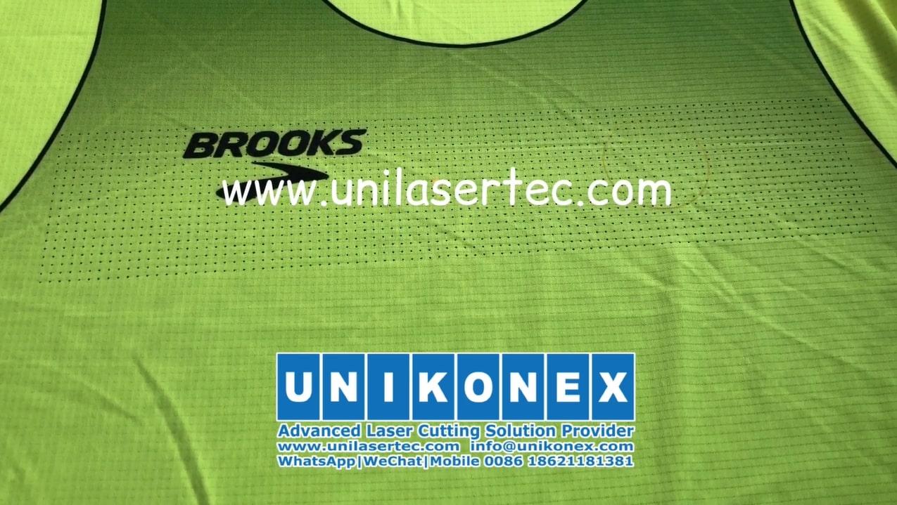 Laser marking machine for laser-cut ventilation holes