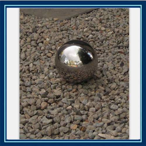 high polished and durable quality garden sculpture stainless steel hollow sphere/metal crafts garden