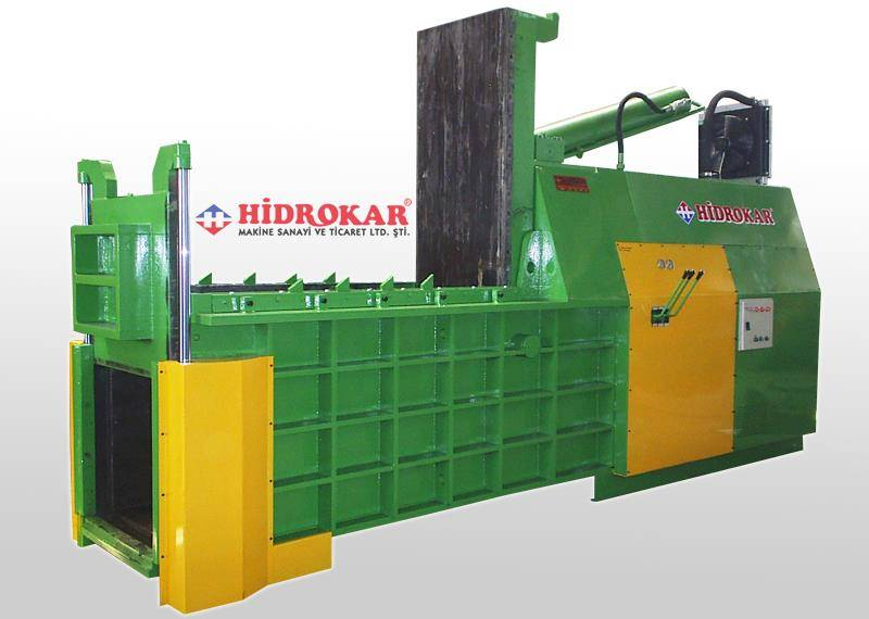 metal scrap baling press 80x80 hydraulic front dump
