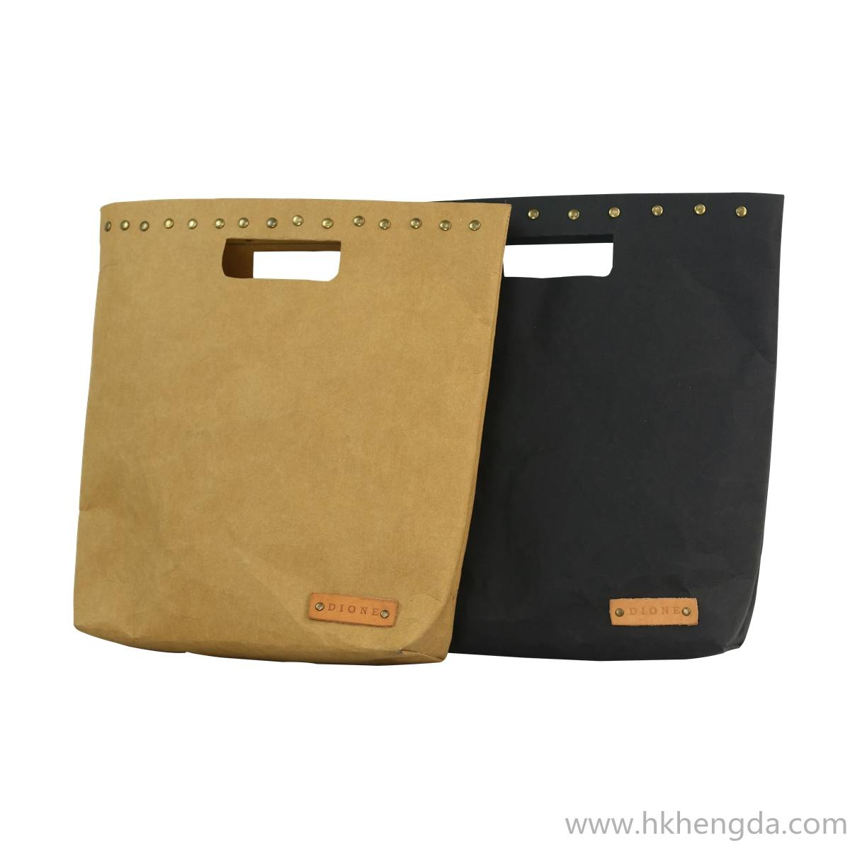 Handmade Eco-friendly washable kraft paper Tote bag