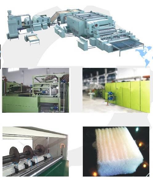 non-glue wadding/sold mattress production line