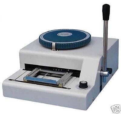 NEW Manual PVC Card Embosser / ID Embossing Machine