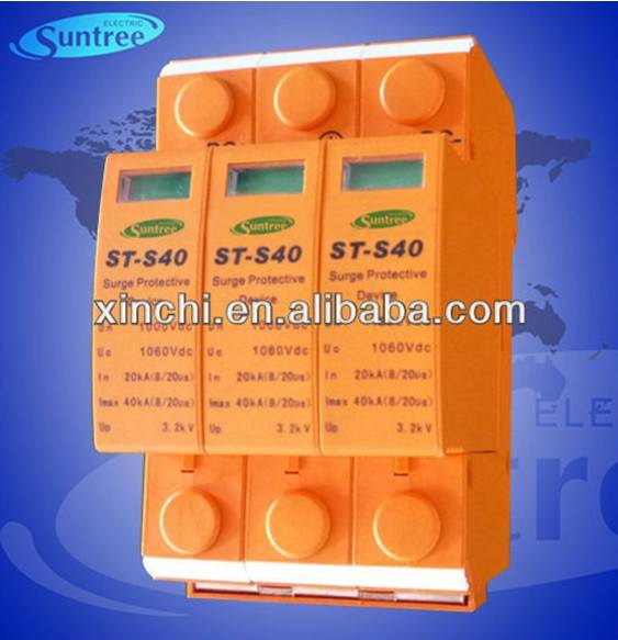 DC Surge Protector Device DC1000V 20-40KA SPD (ST-S40) for Solar Photovoltaic (PV) System