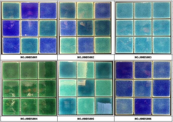 95x95mm Crackled glazed swimming pool tiles