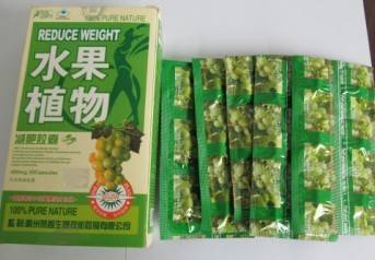 100% pure Fruit & plant herbal weight loss capsules