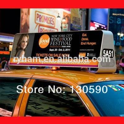 high quality taxi roof led display advertising