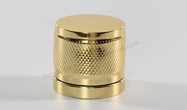 Golden aluminum perfume cover