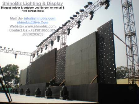 Led Screen, video wall, supplier on Rental, Hire, delhi,chandni chowk