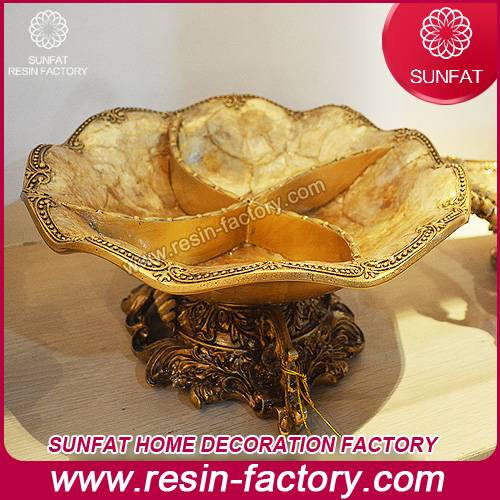 Promotional resin home decoration Resin comport dish decorative home decor