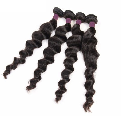 [9A]4 Bundles Brazilian Loose Wave Human Hair Weave