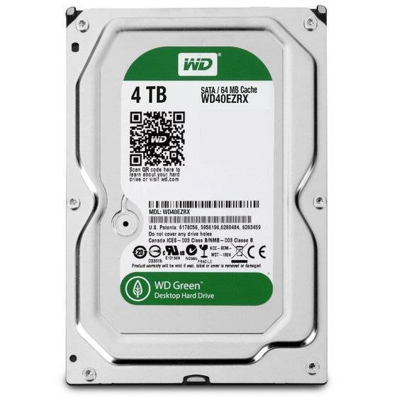 Western Digital WD40EZRX WD Green 4TB Internal HDD 3.5 Desktop Hard Drive Disk