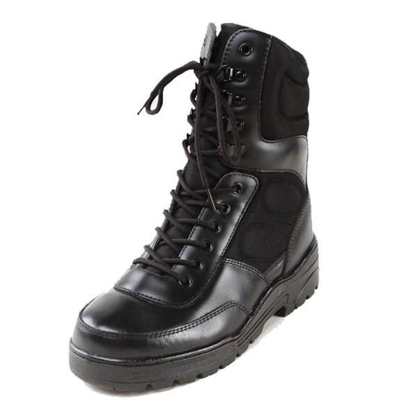 Steel Toe Military Safety Shoes/PU Injection/Outsole PU/Embossed Leather Safety Shoes