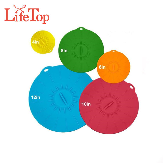 Food Grade Heat Resistant BPA Free Durable Silicone Pot Lid