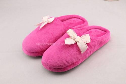 Easy velour lip back slippers
