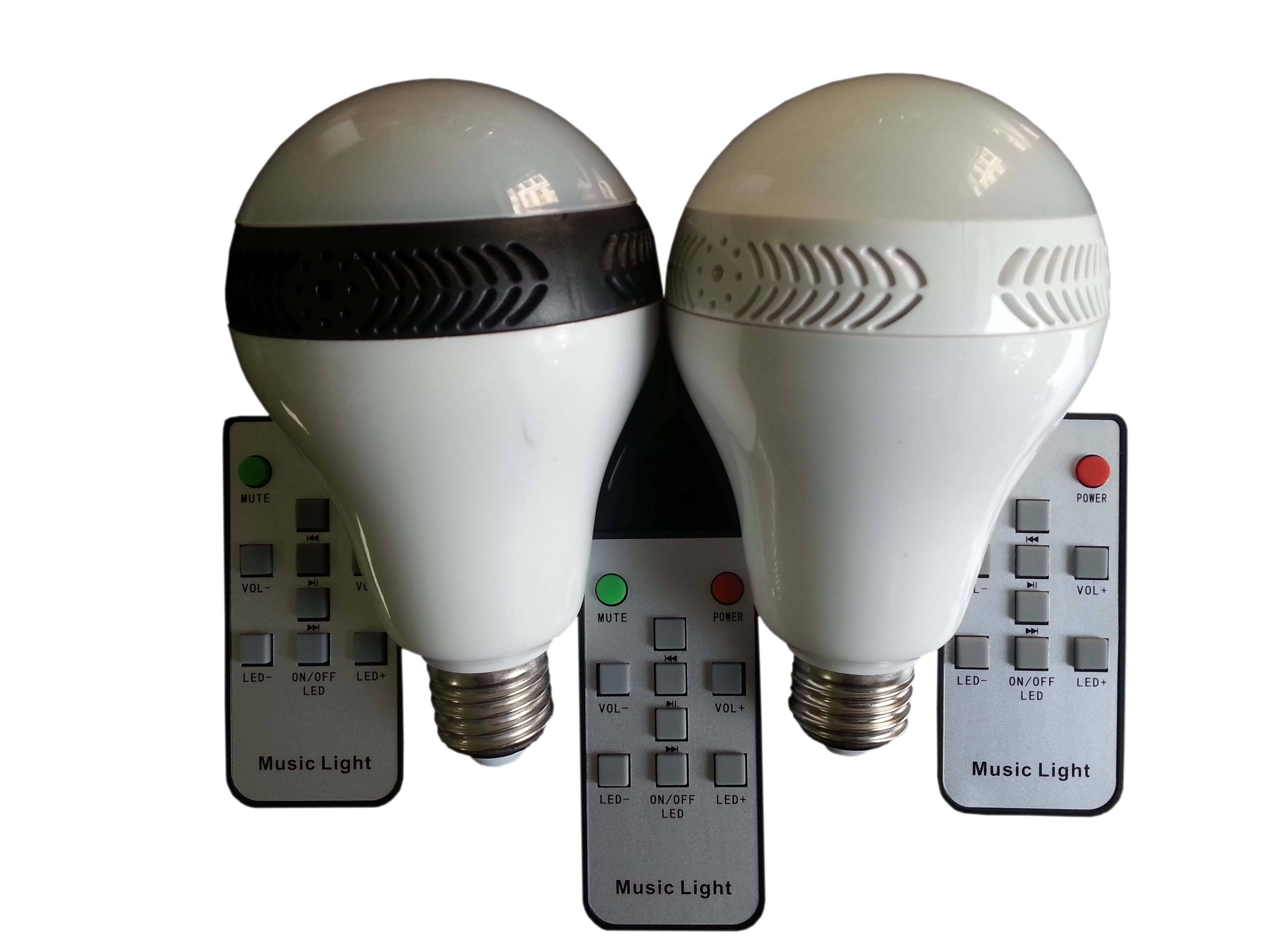 LED bluetooth stereo lamp with Remote Control e27 220V rgb led lights 5W remote control switch bluet