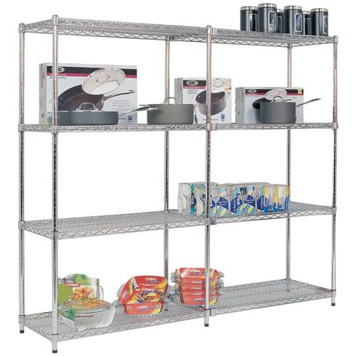 Selling display wire shelving