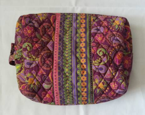 quilted cosmetic bag and cases