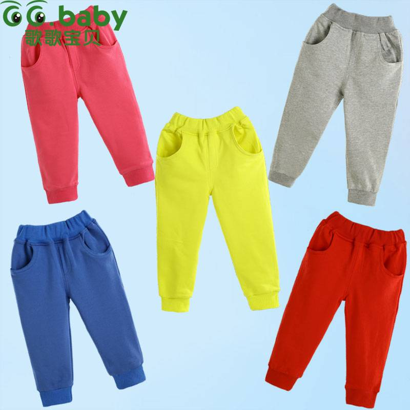 2015 Cotton Spring Autumn Baby Pants Newborn Boy Girl Boy Pants Casual Baby Clothing Elastic Waist
