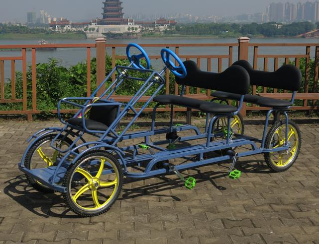 4 Wheel Pedal Bike/4 Wheel Bike Wholesale/Entertainment Bike for Two Person (TE-SA01)