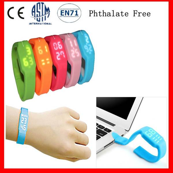Hot Sell Silicone Led Watch USB Drive