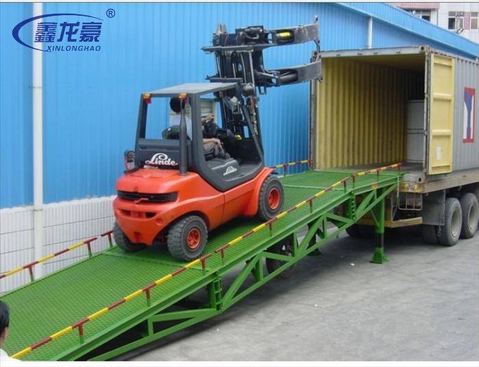 6T-10T hydraulic mobile loading ramp for sale