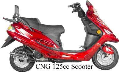 CNG scooter