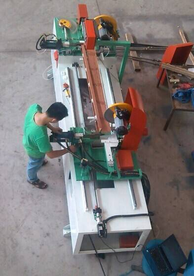 automatic double cutting machine for finished wooden venetian blinds