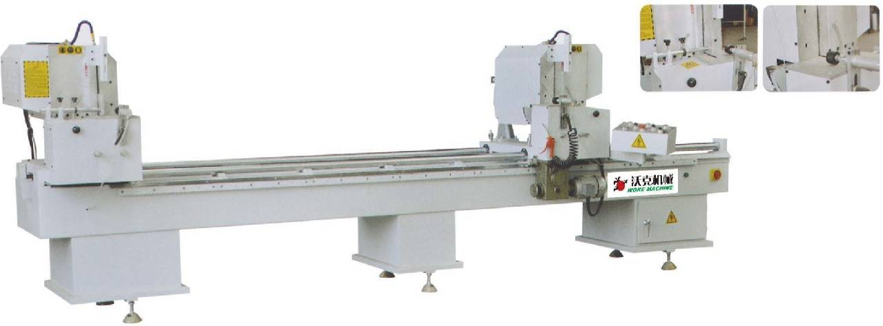 Double head cutting saw for aluminum/PVC profile