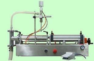 Thin liquid piston filler