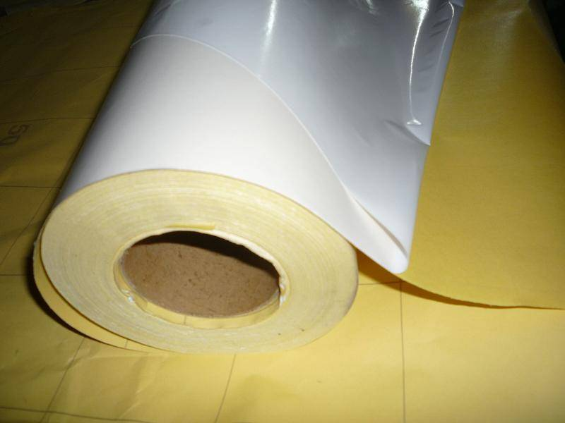 Silicone paper for sandblasting film