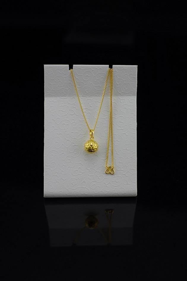 24K Gold Soccer Ball Necklace Pendant