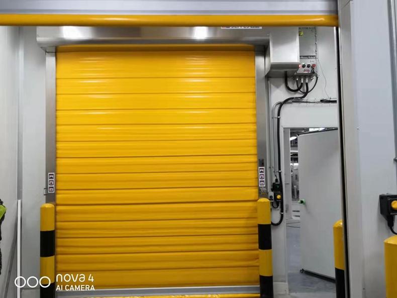 high speed roller shutter blast freezer door for food or dairy industry