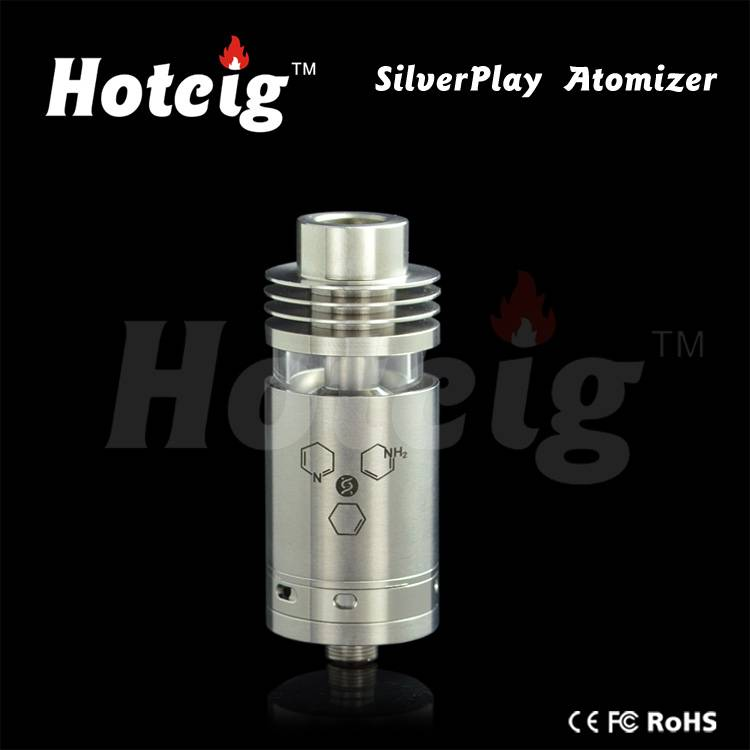 2015 hottest silverplay rba silverplay rta / silverplay atomizer with good quality