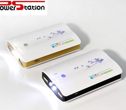 wonderful design power bank +LED+2 USB+5 USB connectors