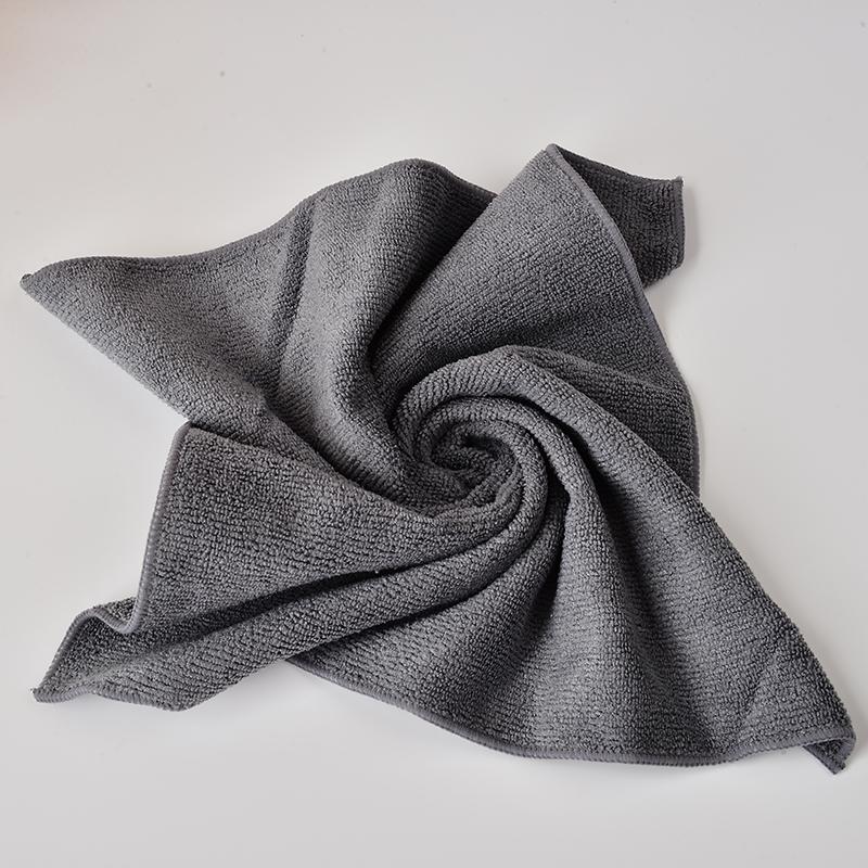 35cm35cm All-purpose Microfiber Cleaning Cloths Wiping Dusting Rags Dark Grey