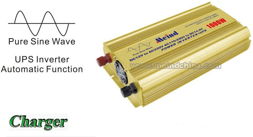 1000W Power Inverter Pure Sine Wave with UPS AC converter Car Inverters Power Supply AC Adapter