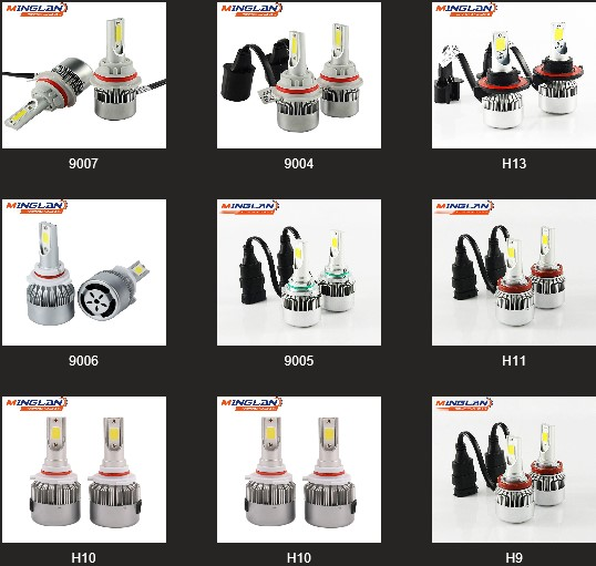 Factory wholesale C6 car led headlight